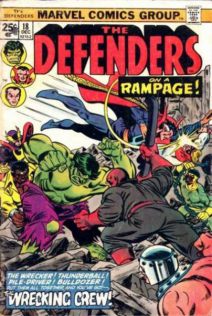 Defenders 18 - Marvel Comics - Rampage - Wrecking Crew - Incredible Hulk - Battle
