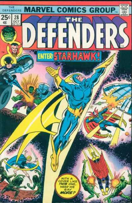 Defenders 28 - Starhawk - Green Men - Hulk - Ufo - Outer Space