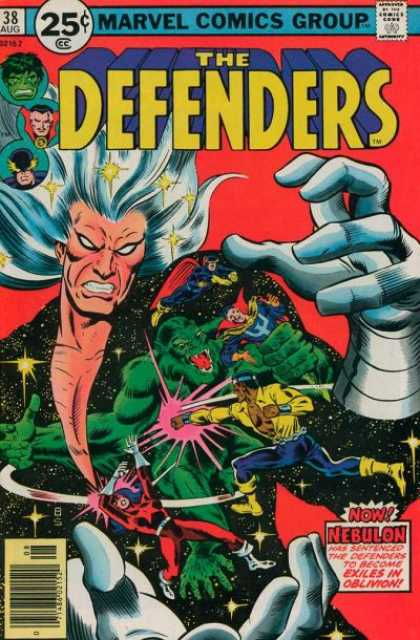 Defenders 38 - Marvel Comics Group - Approved By The Comics Code - Hulk - Nebulon - Super-human - Joe Sinnott, Richard Buckler