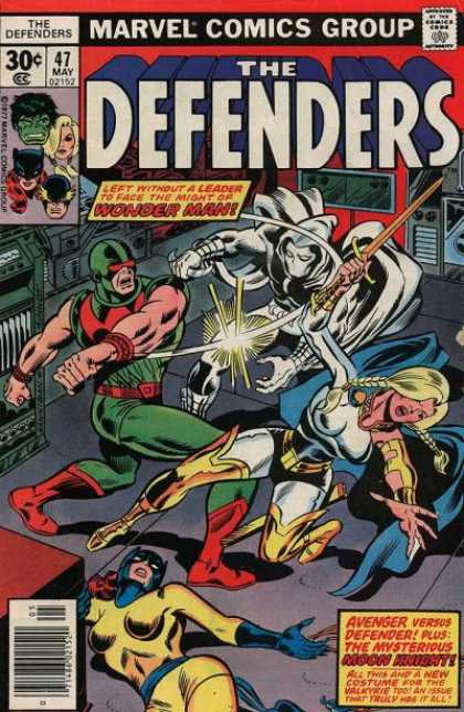Defenders 47 - Marvel - Marvel Comics - Avenger - Defender - Moon Knight - Joe Sinnott