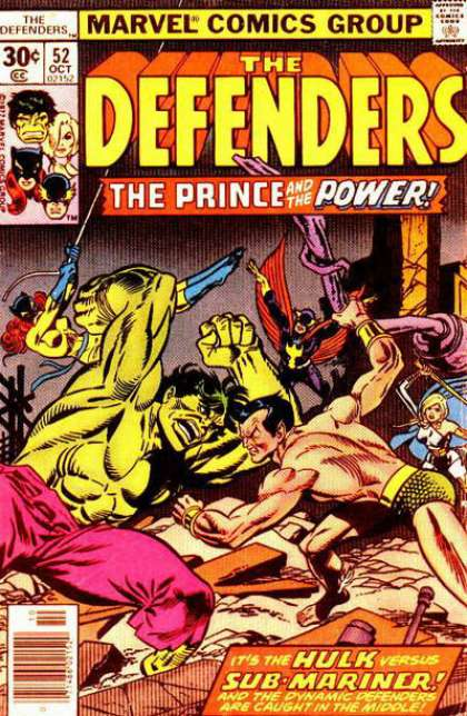 Defenders 52 - Marvel - Prince - Power - Hulk - Sub-mariner