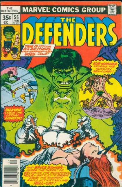 Defenders 56 - Marvel Comics Group - Approved By The Comics Code - Hulk - Sub-mariner - Hell-cat - Carmine Infantino, Klaus Janson