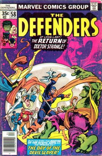 Defenders 58 - Marvel Comics - Comics Code Authority - Incredible Hulk - Weapon - Doctor Strange - Klaus Janson