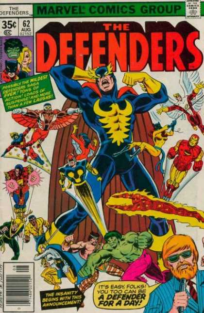 Defenders 62 - Marvel - Marvel Comics - Superheroes - Ironman - Defender - John Romita