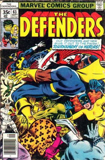 Defenders 63 - 63 - September - Tournament Of Heroes - Superheroes - Marvel - Joe Sinnott