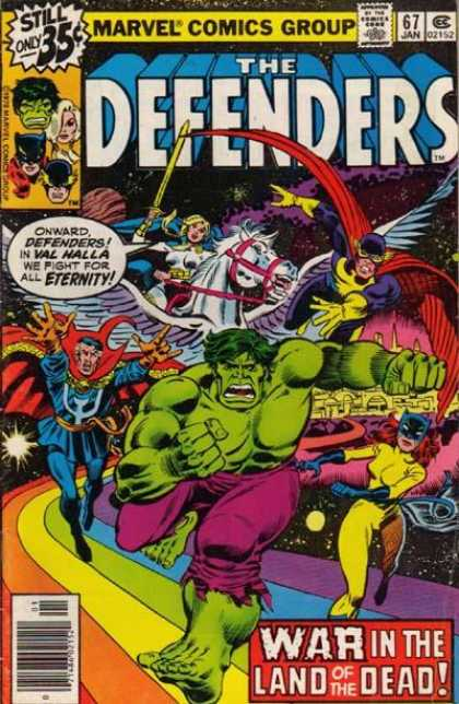 Defenders 67 - Hulk - Space Rainbow - Val Halla - Pegasus - Land Of The Dead
