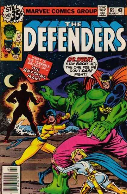 Defenders 69 - Hulk - Beach - Moon - The Anything Man - Fight - Bob Layton
