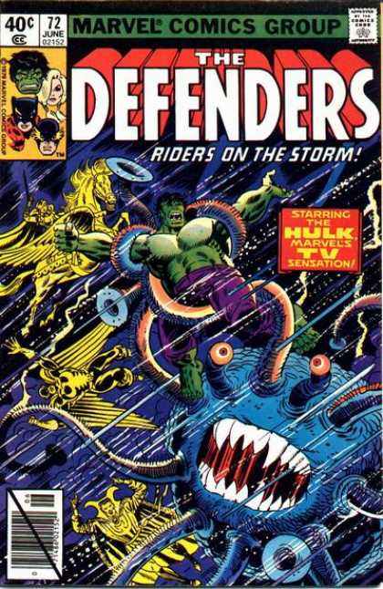 Defenders 72 - 72 - Riders On Teh Storm - The Hulk - Tenticles - Pegasus