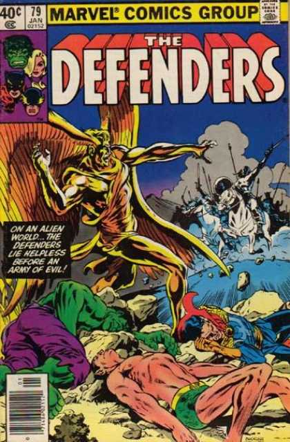 Defenders 79 - Hulk - Marvel - Army - Alien World - Jan 1979 - Bob McLeod, Richard Buckler