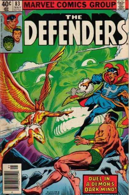 Defenders 83 - Clouds - The Hulk - Yellow And Red Cape - Wings - White Teeth - Josef Rubinstein, Richard Buckler
