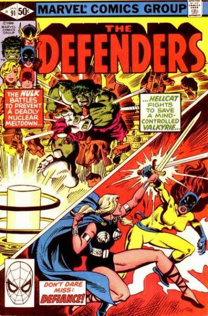 Defenders 91 - Marvel - The Hulk - Hellcat - Valkyrie - Vintage