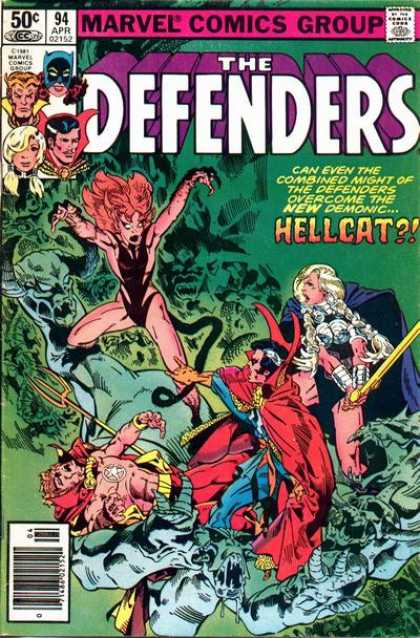 Defenders 94 - Hellcat - Devil - Sword - Trident - Man - Michael Golden