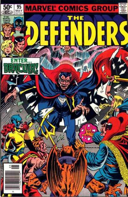 Defenders 95 - Marvel Comics Group - Approved By The Comics Code - Dracula - Sword - Superhero