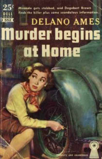 Dell Books - Murder Begins at Home - Delano Ames