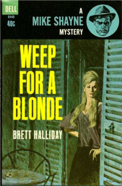 Dell Books - Weep for a Blonde - Brett Halliday