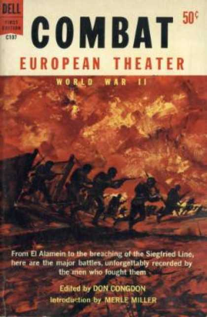 Dell Books - Combat: European Theater, World War Ii