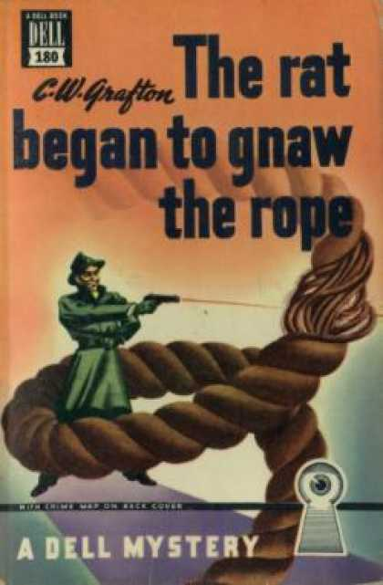 Dell Books - The Rat Began To Gnaw the Rope - C.w. Grafton