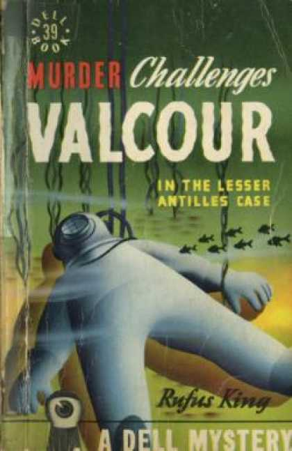 Dell Books - Murder Challenges Valcour - Rufus King