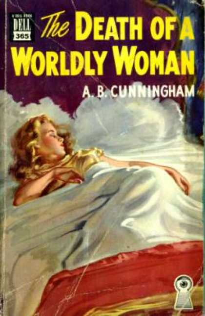 Dell Books - The Death of a Worldly Woman - A. B. Cunningham