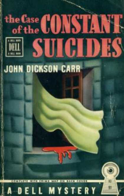 Dell Books - The Case of the Constant Suicides - John Dickson Carr