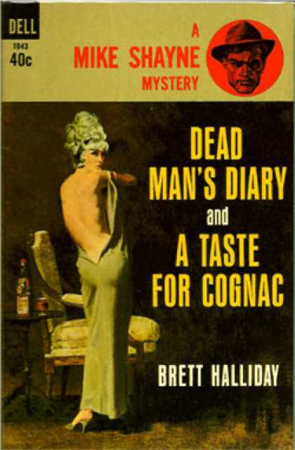 Dell Books - Dead Man's Diary and a Taste for Cognac - Brett Halliday