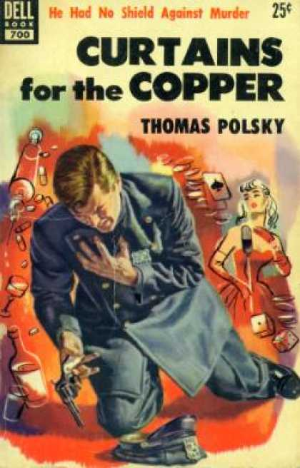 Dell Books - Curtains for the Copper - Thomas Polsky