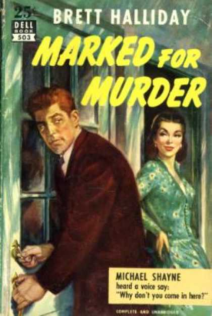 Dell Books - Marked for Murder - Brett Halliday