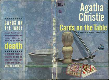 Dell Books - Cards On the Table, a Hercule Poirot Mystery - Agatha Christie