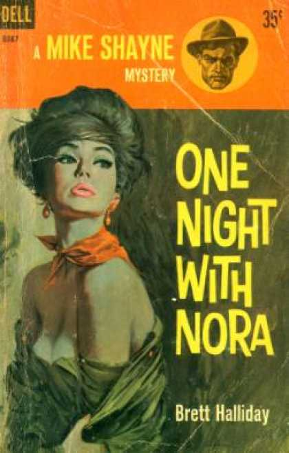 Dell Books - One Night With Nora - Brett Halliday