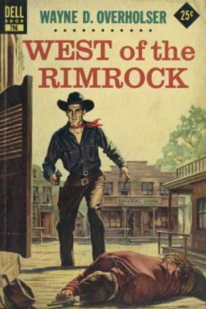 Dell Books - West of the Rimrock - Wayne D. Overhosler
