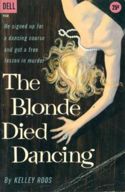 Dell Books - The Blonde Died Dancing - Kelley Roos
