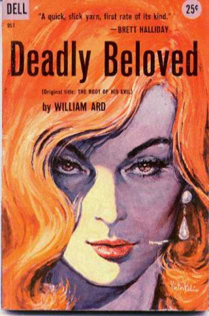 Dell Books - Deadly Beloved : A Timothy Dane Mystery - William Ard