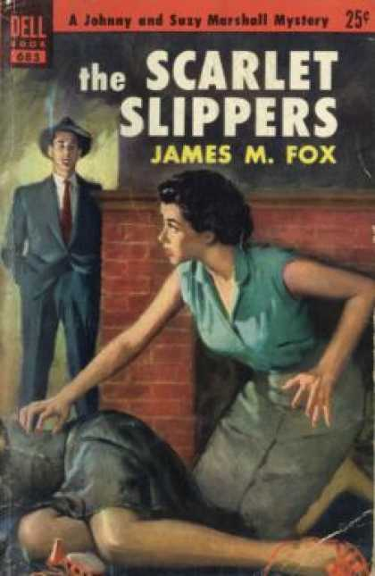 Dell Books - The Scarlet Slippers: A Johnny and Suzy Marshall Mystery - James M. Fox
