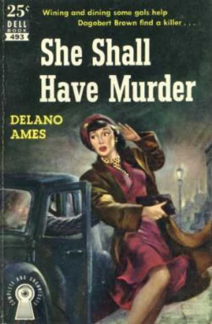 Dell Books - She Shall Have Murder 1949 - Delano Ames