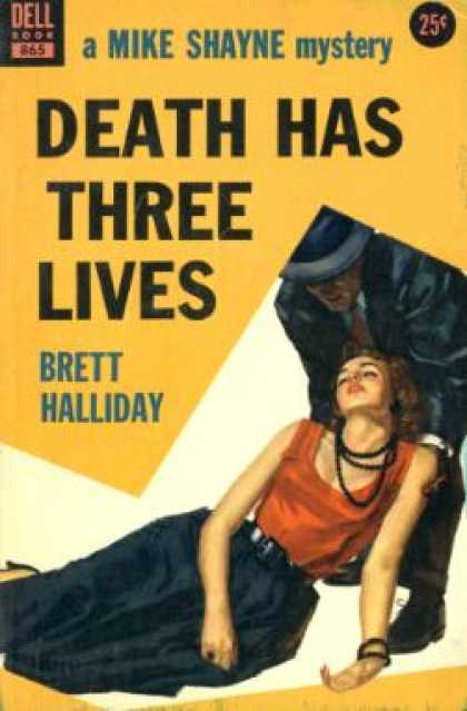 Dell Books - Death Has Three Lives - Brett Halliday
