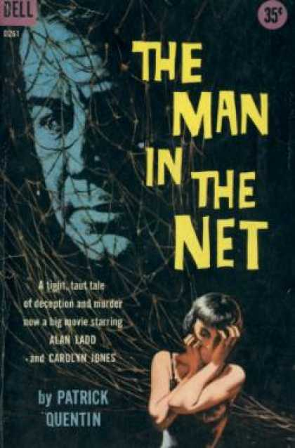 Dell Books - The Man In the Net - Patrick, Illustrated By Victor Kalin Quentin