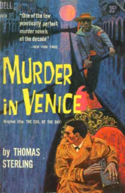 Dell Books - Murder In Venice - Thomas Sterling