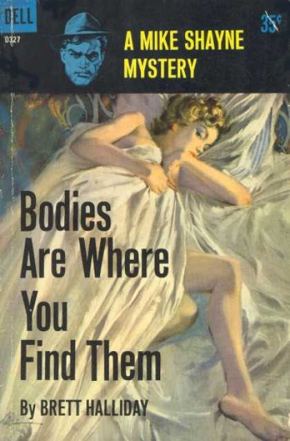 Dell Books - Bodies are where you find them - Brett Halliday