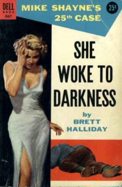 Dell Books - She Woke To Darkness - Brett Halliday