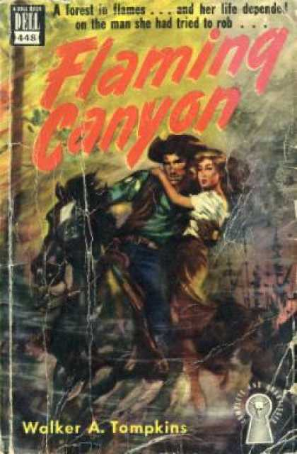 Dell Books - Flaming Canyon - Walker A. Tampkins