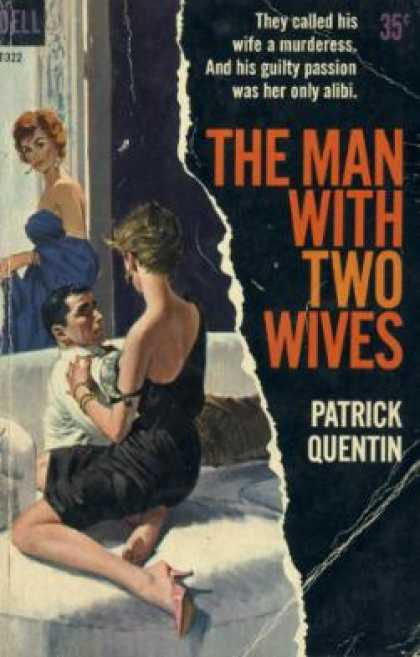 Dell Books - The Man With Two Wives - Patrick Quentin