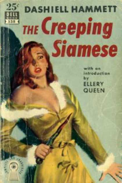 Dell Books - The Creeping Siamese W/introduction By Ellery Queen - Dashiell Hammett