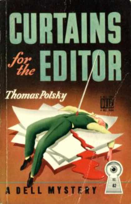 Dell Books - Curtains for the Editor - Thomas Polsky
