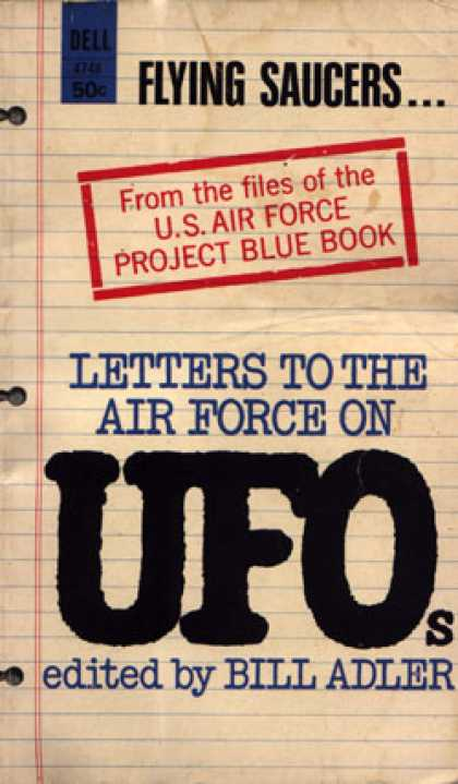 Dell Books - Letters To the Air Force On Ufos - Bill Adler
