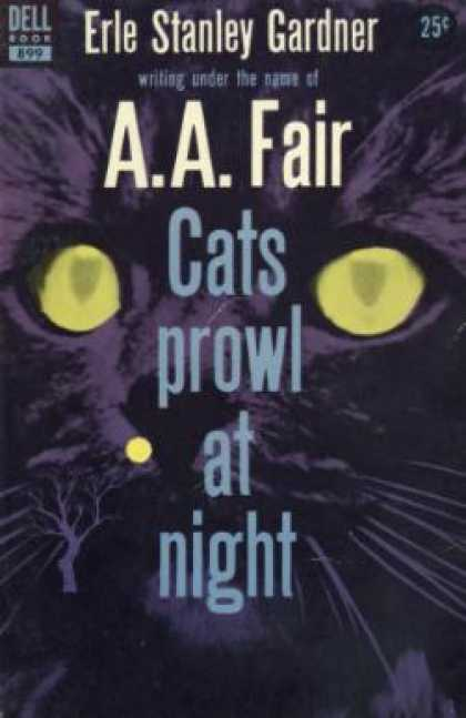 Dell Books - Cats Prowl at Night - A. A. Fair
