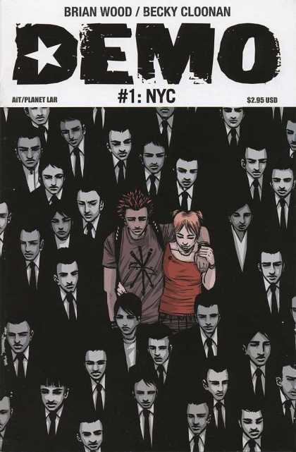 Demo 1 - Brian Wood - Suits And Ties - Becky Cloonan - 1 Nyc - Spiked Hair - Becky Cloonan