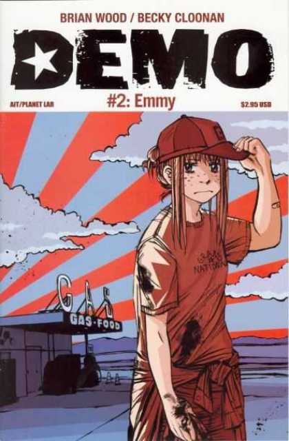 Demo 2 - 2 - Emmy - Gas Station - Clouds - Girl - Becky Cloonan