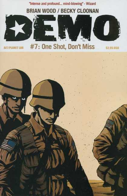 Demo 7 - Brian Wood - Becky Cloonan - 7 One Shot Dont Miss - American Flag - Army Uniform - Becky Cloonan