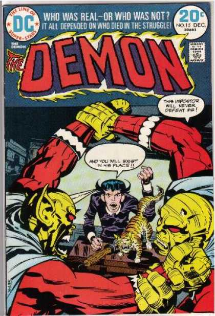 Demon 15 - Dc - No 15 - Dec - Tiger - Who Was Real - Jack Kirby