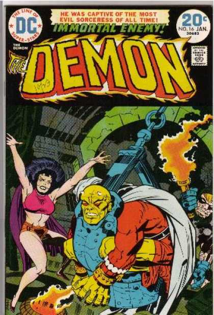 Demon 16 - Immortal Enemy - He Was Captive Of The Most Evil Sorceress Of All Time - The Line Of Super-stars - Comics Good - No 16 Jan - Jack Kirby